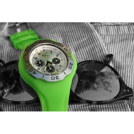 GREEN silicon band A.D.N.A watch