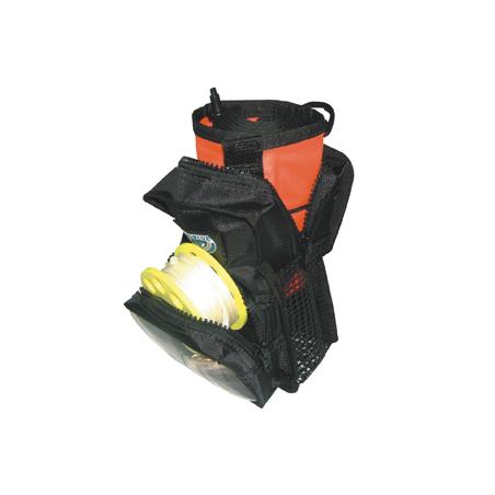 Pochette pour parachute de surface et dévidoir plongée