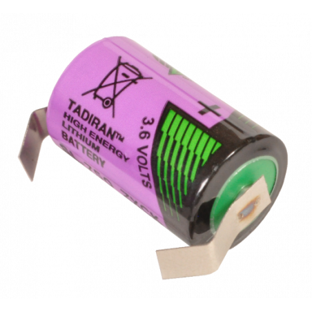 Pile lithium format 1/2AA 3.6V soudable