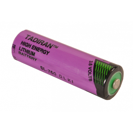 3.6V Lithium AA TADIRAN cell non rechargeable