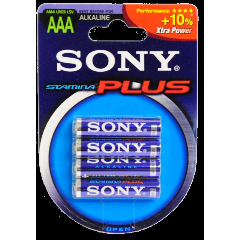 Pack de 4x piles alkalines AAA LR03 SONY