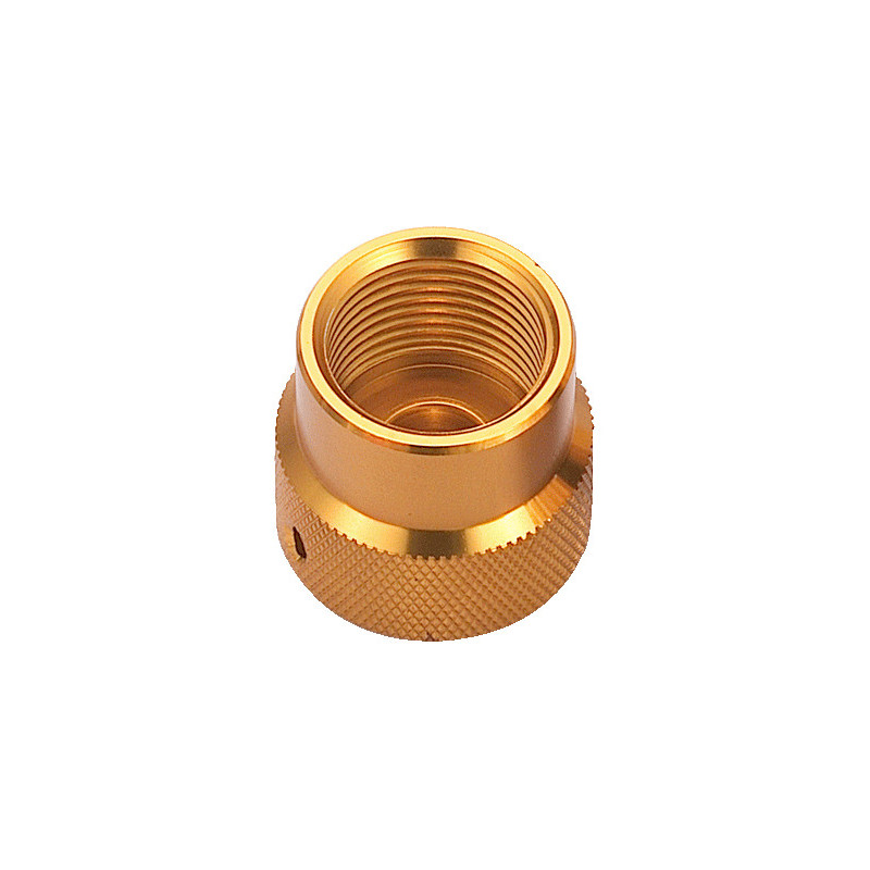 DIN female dust cap GOLD