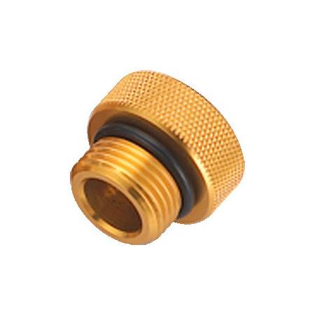 DIN male dust cap GOLD