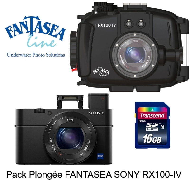 Pack Fantasea housing + Sony RX100 IV + SD card