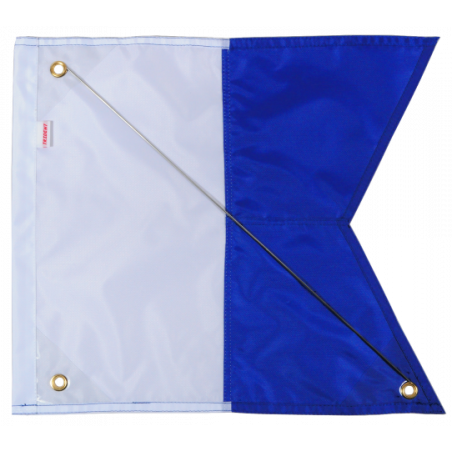 Alpha diving flag 40x35cm nylon with reinforcement