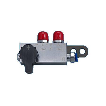 Gaz switch block right output