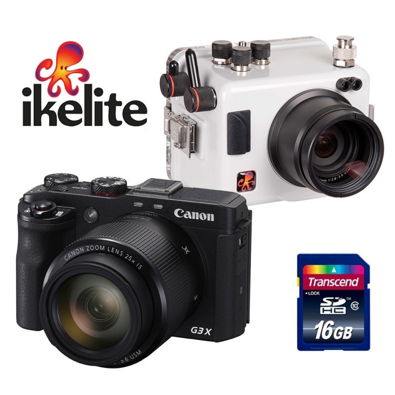 Pack Ikelite housing + Canon G3X