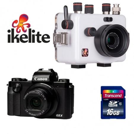 Pack housing Ikelite + Canon G5X