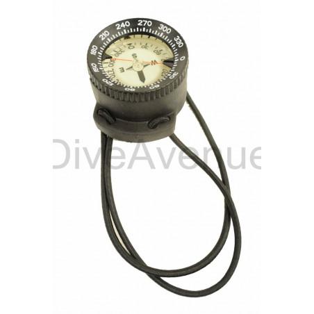 Boussole sous-marine avec bracelet élastique.