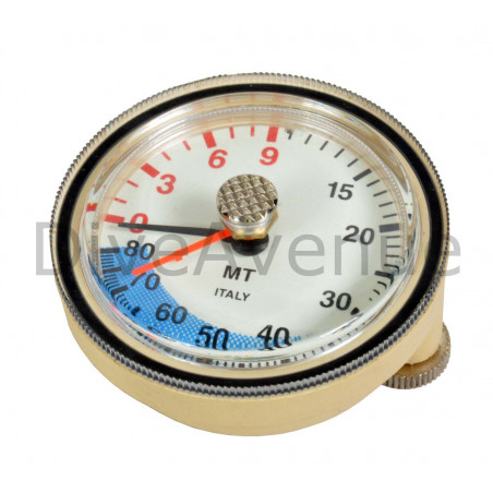 Spare depth gauge with max depth indicator 0-80m.