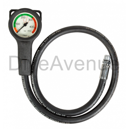 Air manometer 52mm slim 450 BAR - 80cm hose