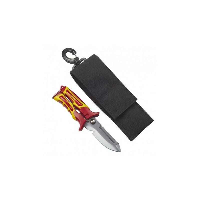 OMS SK1 couteau-cisaille plongée avec lame pointue et étui