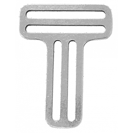 Boucle inox pour baudrier ou harnais 2x passants