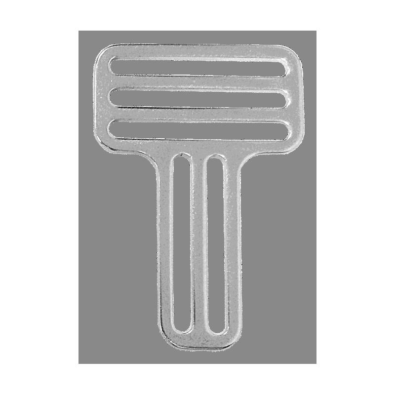 Boucle inox pour baudrier ou harnais 3x passants