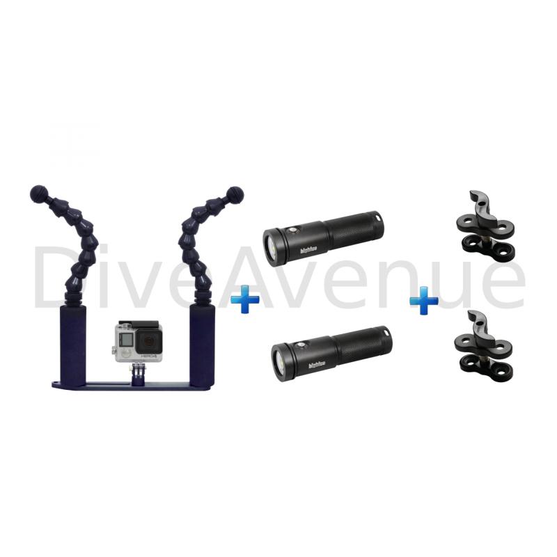 Platine GoPro flex+2xAL26000XWP Bigblue+2x pinces