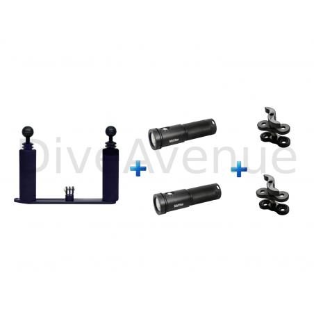 Platine GoPro+ 2x AL26000XWP Bigblue +2x pinces