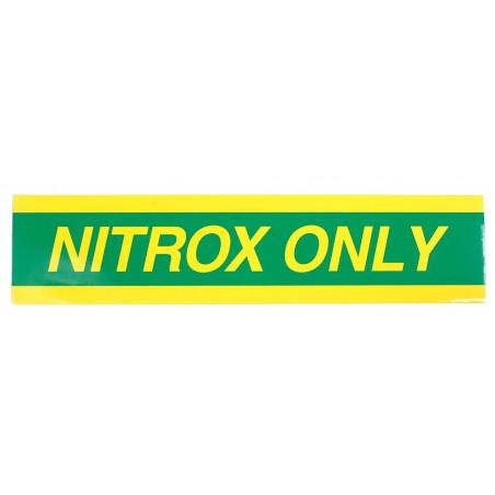 Autocollant NITROX ONLY pour bouteille - 59cm x 15cm