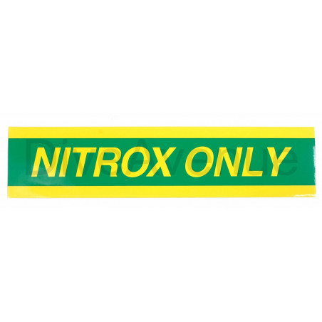 NITROX ONLY sticker for tank - 38cm x 9cm