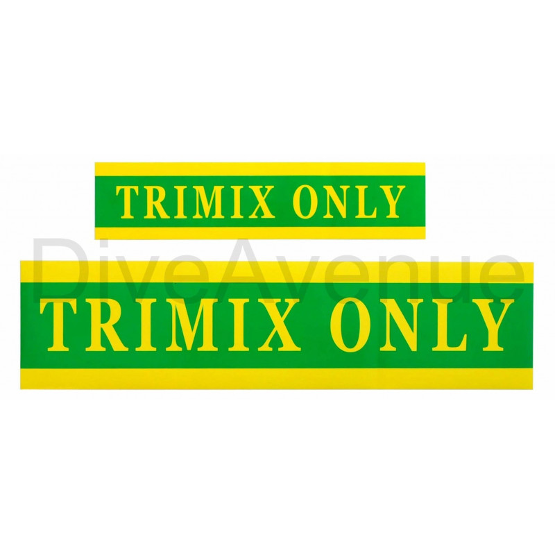 TRIMIX ONLY sticker for tank - 59cm x 15cm