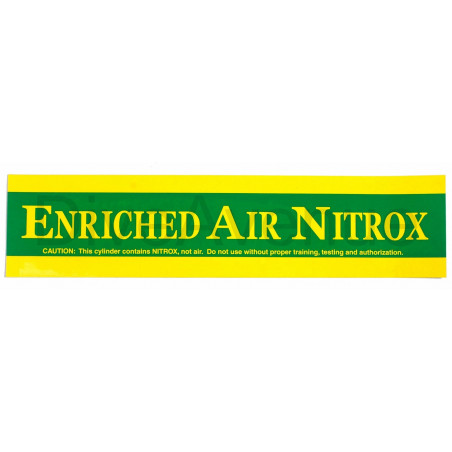 ENRICHED NITROX ONLY sticker for tank - 59cm x 15cm