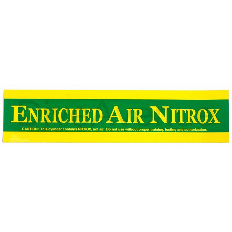 ENRICHED AIR NITROX sticker for tank - 38cm x 9cm