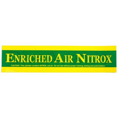 Autocollant ENRICHED AIR NITROX pour bouteille - 38cm x 9cm