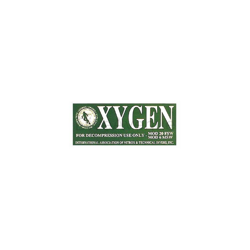 OXYGEN sticker for deco diving tank