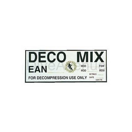 DECO MIX sticker for tank