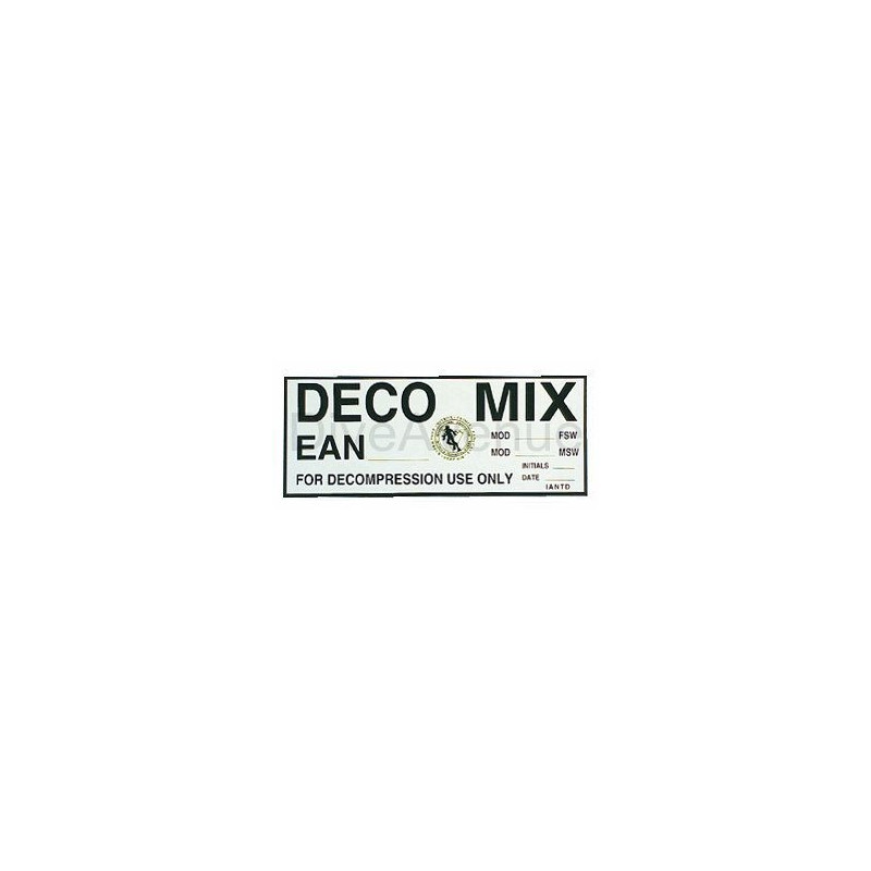 DECO MIX sticker for tank