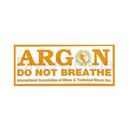 ARGON sticker for tank