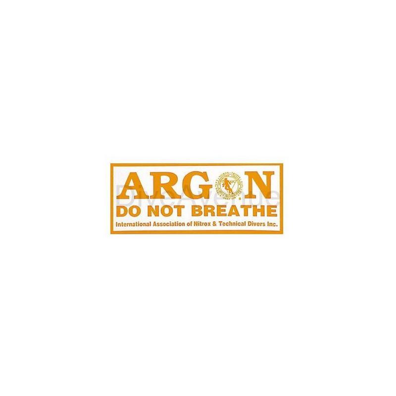 ARGON sticker for tank