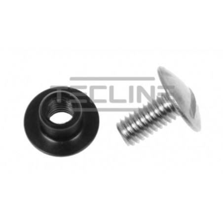 Backplate set screw + nut stainless steel lenght 15mm