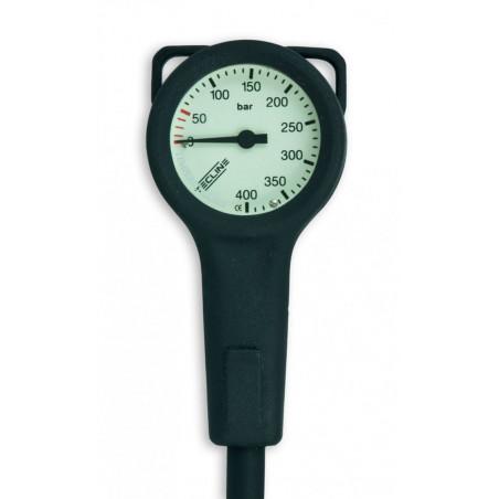 Pressure gauge TECLINE 400bar 52mm + 80cm hose