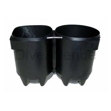 Culot pour bouteille de plongée 2x5/7L Ø140mm