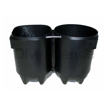 Culot pour bouteille de plongée 2x10L Ø170mm
