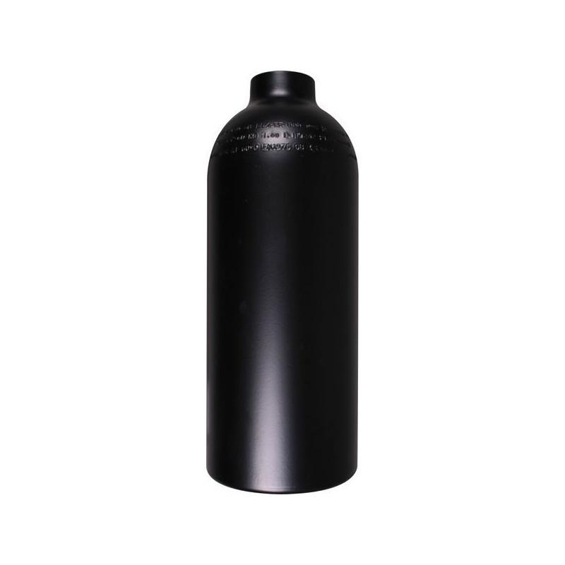 Aluminum tank 1.5L 200bar naked. Black