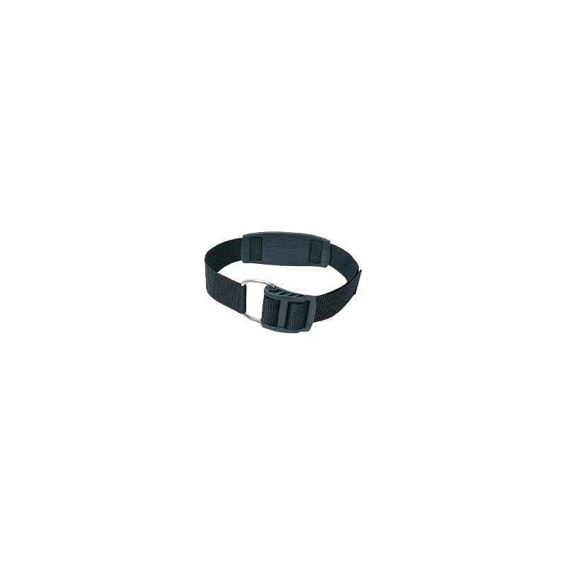 Single scuba tank band strap with plastic lever 105cm