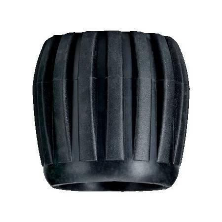 Black rubber tank valve knob