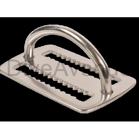 Bloqueur de plomb inox avec D-ring intégré