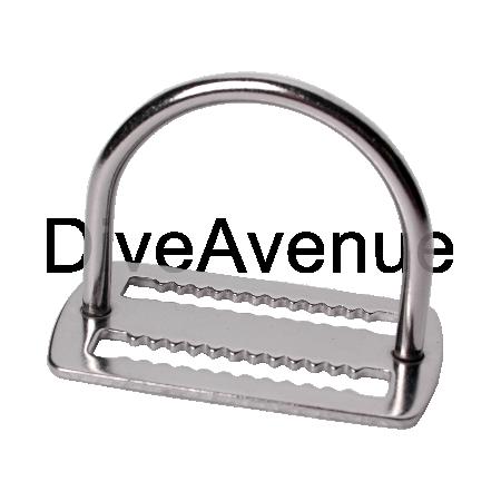 D-ring 44mm stainless steel belt stop short