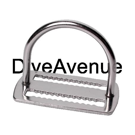 Bloqueur de plomb inox avec D-ring intégré 44mm