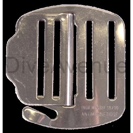 Boucle de ceinture de plomb inox deux pièces