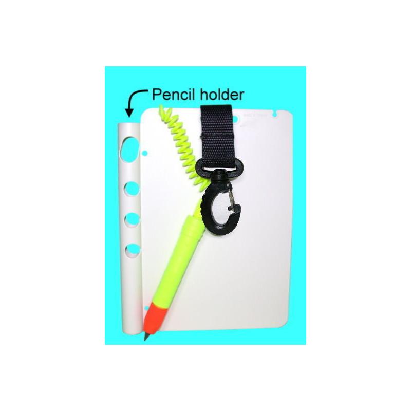 Ardoise plate avec clip et crayon 12.5cm x 17.5cm