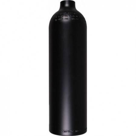 Aluminum tank 0.85L 200bar naked. Black
