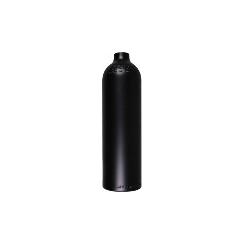 Bouteille aluminium 0,85 Litres 200bar nue. Noire