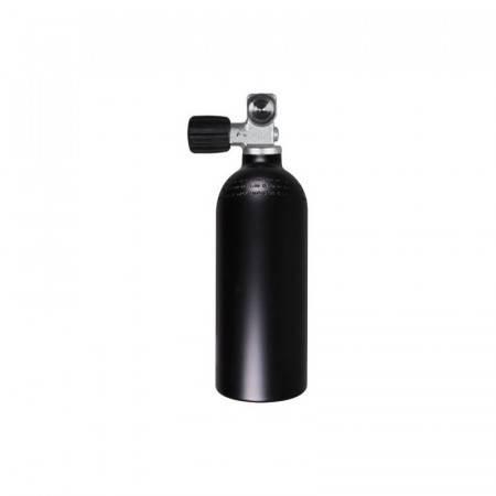 Bouteille aluminium 1,5 Litres 200bar avec robinet. Noire