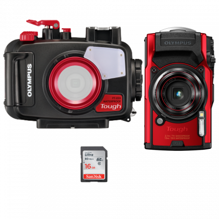 Olympus TG-6, pack photo...