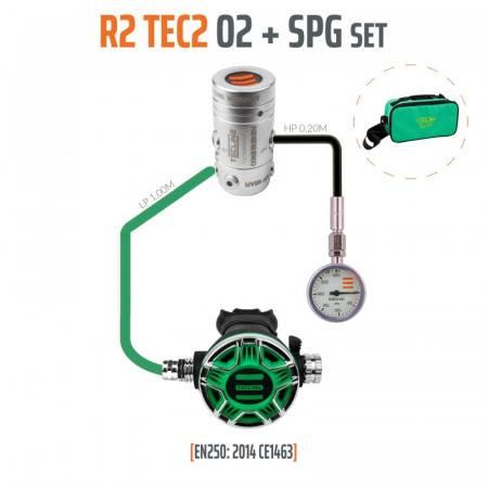 Pack détendeur plongée oxygène R2-TEC2 O2 M26 + MANO - TECLINE