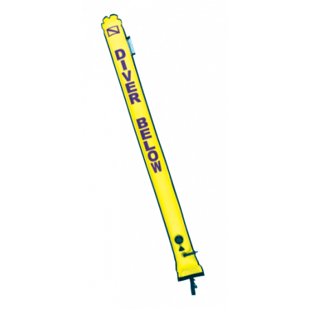 Diving surface marker 1.82m with inflator and valve