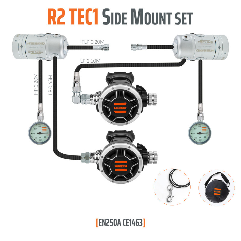TECLINE Pack détendeur « SIDEMOUNT» R2-TEC1- TECLINE